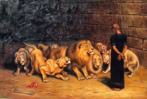 Briton Riviere -- Daniel in the Lions' Den