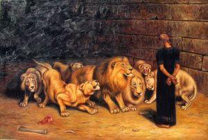 Briton Riviere -- Daniel in the Lions' Den