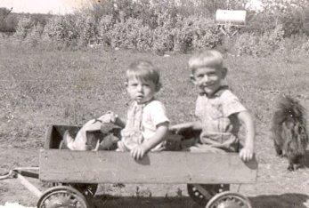 Boys in Wagon