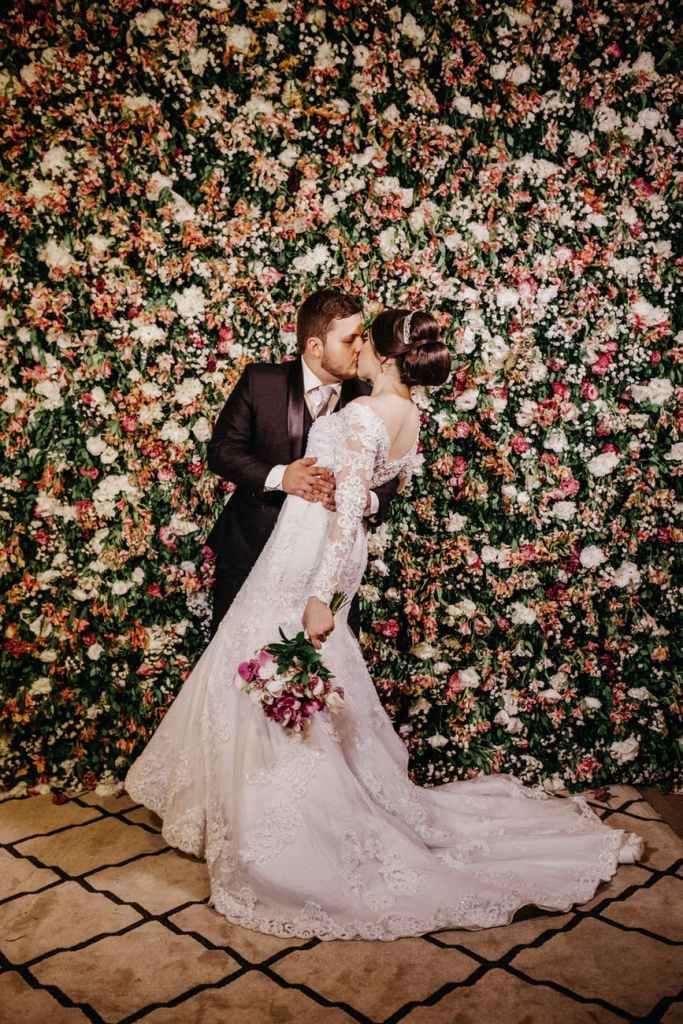 groom kissing a bride