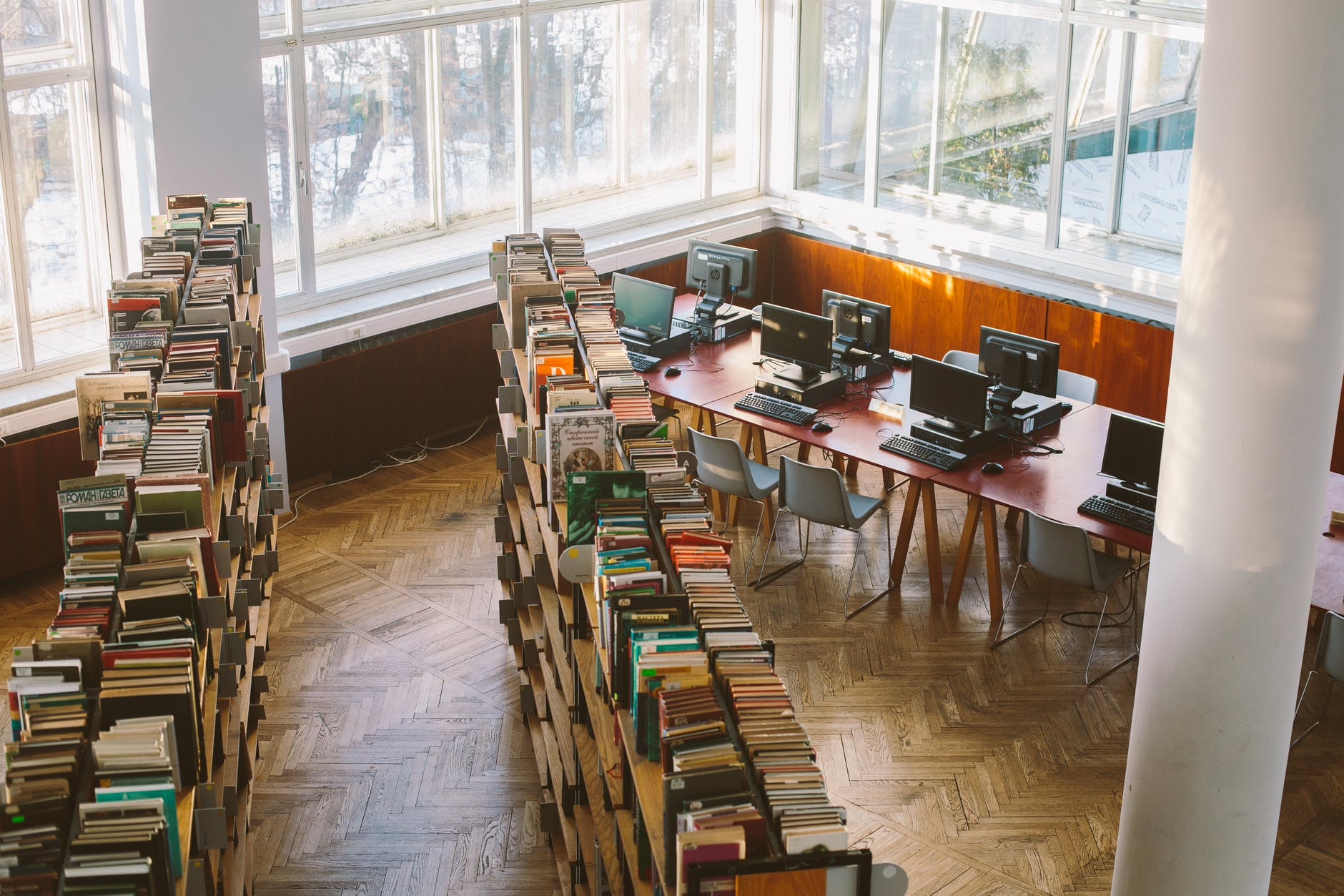 books in library