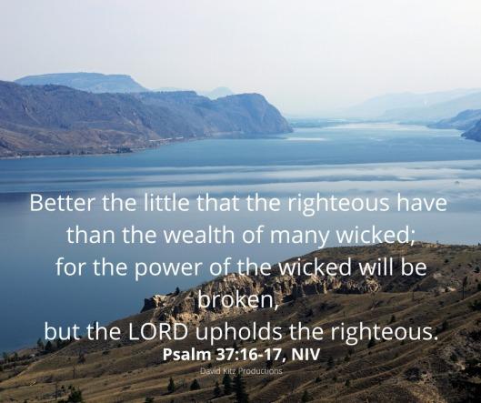 Psalm 37-16-17