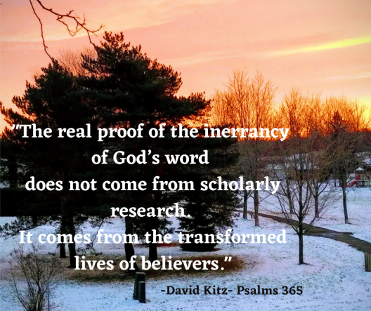 365 The real proof of the inerrancy