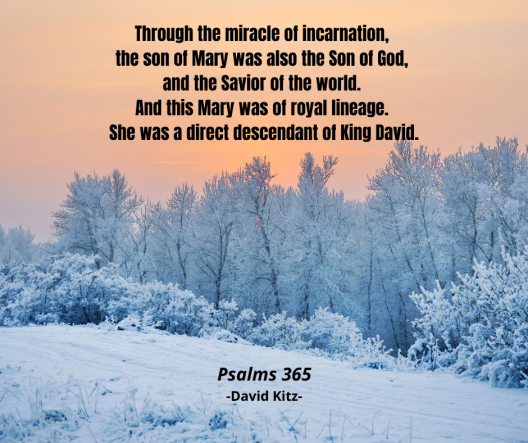 365 Through the miracle of incarnation