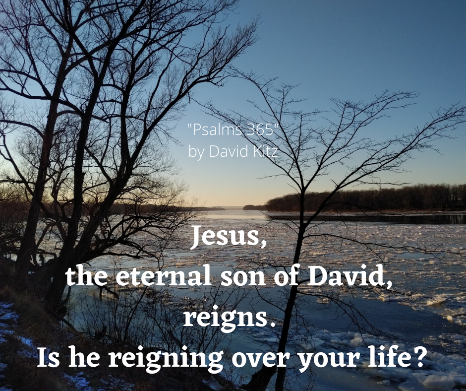 Jesus, the eternal son of David, reigns. Is he reigning over your life_