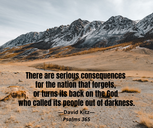the nation that forgets 365 Psalm 106c