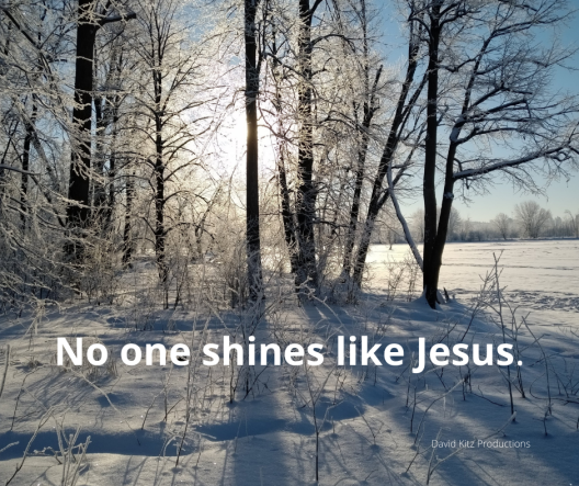 Nothing and no one shines like Jesus 365 Psalm 107b