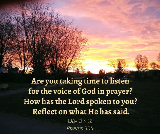 365 Listening Prayer Psalm 130b