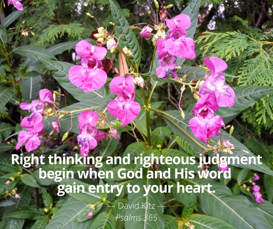Right thinking and righteous judgment 365 Psalm 7a