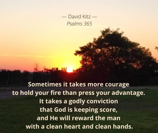 God is keeping score Psalm 18c