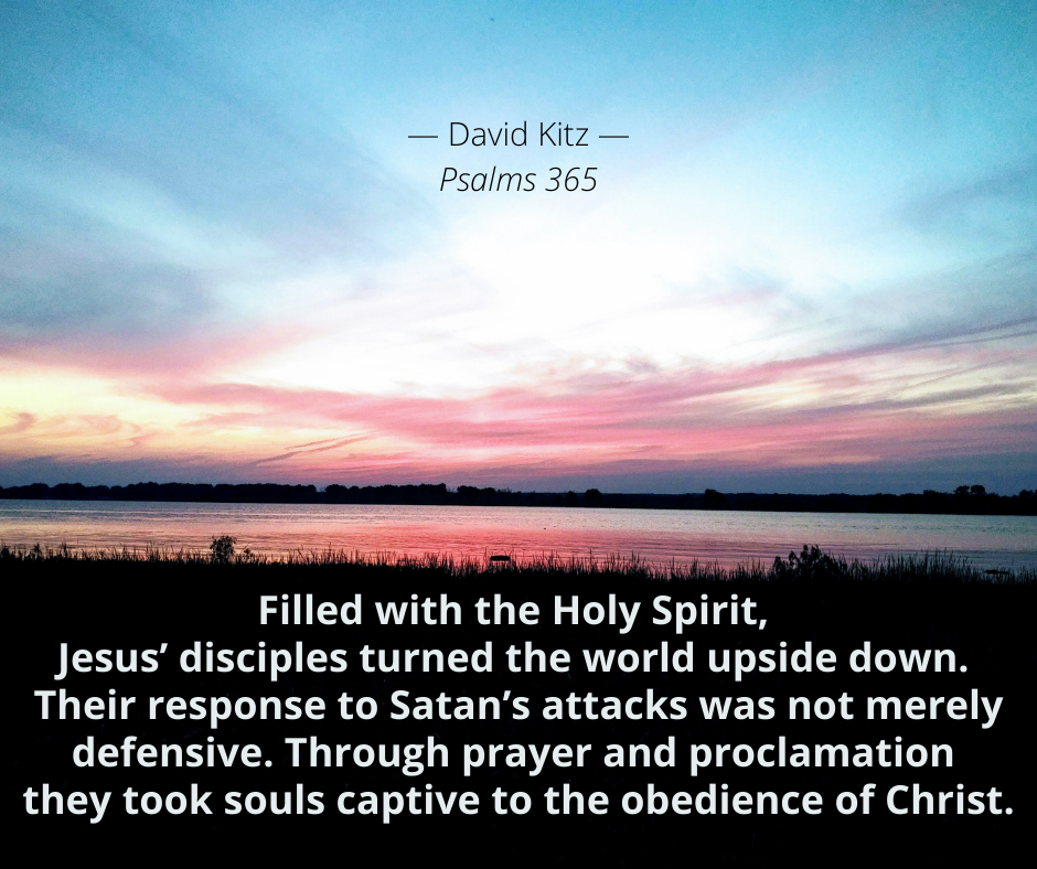 Jesus' disciples turned the world upside down Psalm 18e
